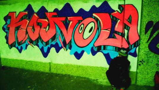 Tunnelikadun Kouvola-graffiti